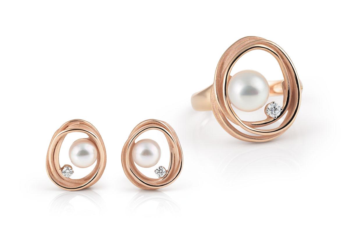 Annamaria Cammilli Texture ring en oorbellen